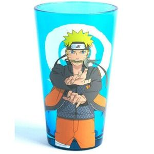 Naruto Shippuden Anime Blue Glass tumbler